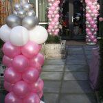 ballondecoratie geboorte meisje