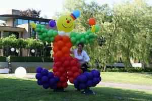 Ballondecoratie ballonenpilaar clown Bergen Landgoed Odessa De Decoratieballon Alkmaar