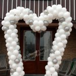 trouwdag ballon boog