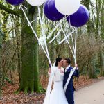 bruiloft grote helium ballonnen