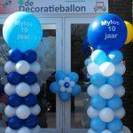 ballon pilaar met bedrukking