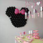 verjaardagsfeest ballondecoratie Minnie Mouse