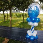 mini ballonpilaar verjaardag 50 jaar